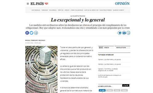 Lo excepcional y lo general - Miguel Temboury